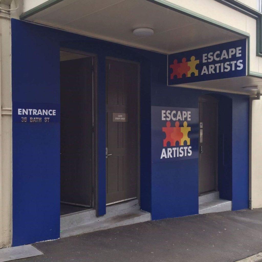 Entrance to Escape Artists Dunedin